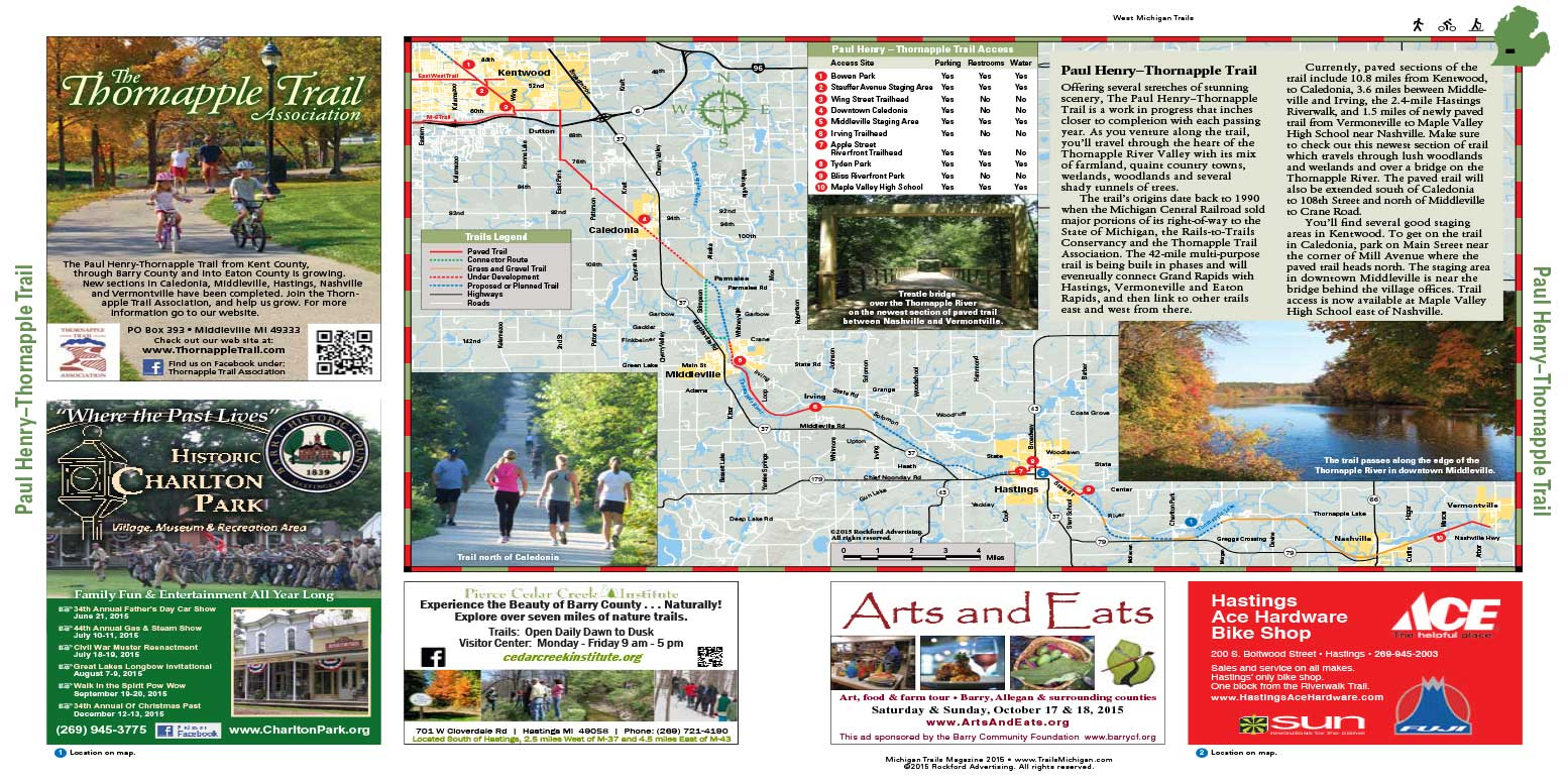 Paul Henry — Thornapple Trail Map